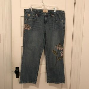 Professional Sale Z Cavaricci Vintage Embroidered Jeans Size 1...free Gift With Purchase! Jeans Women's Clothing